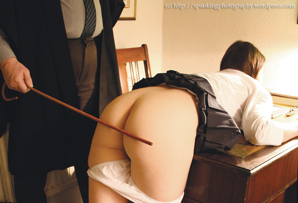 Spanked with a cane